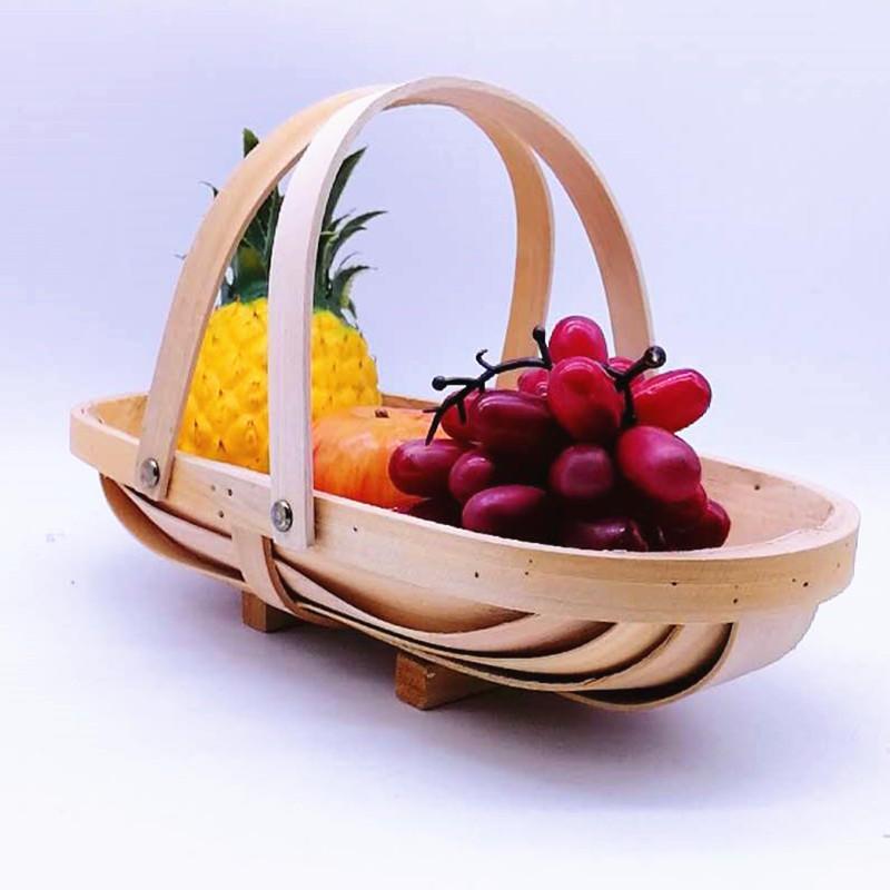 Boat shape-Christmas-gift-hamper-wood-basket