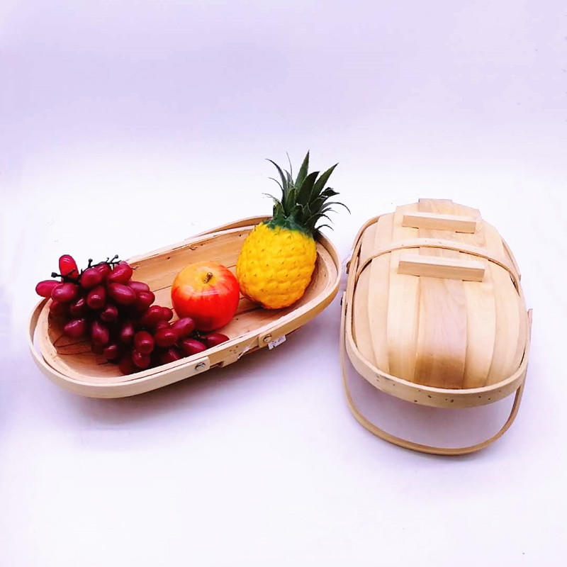 Boat shape-Christmas-gift-hamper-wood-basket