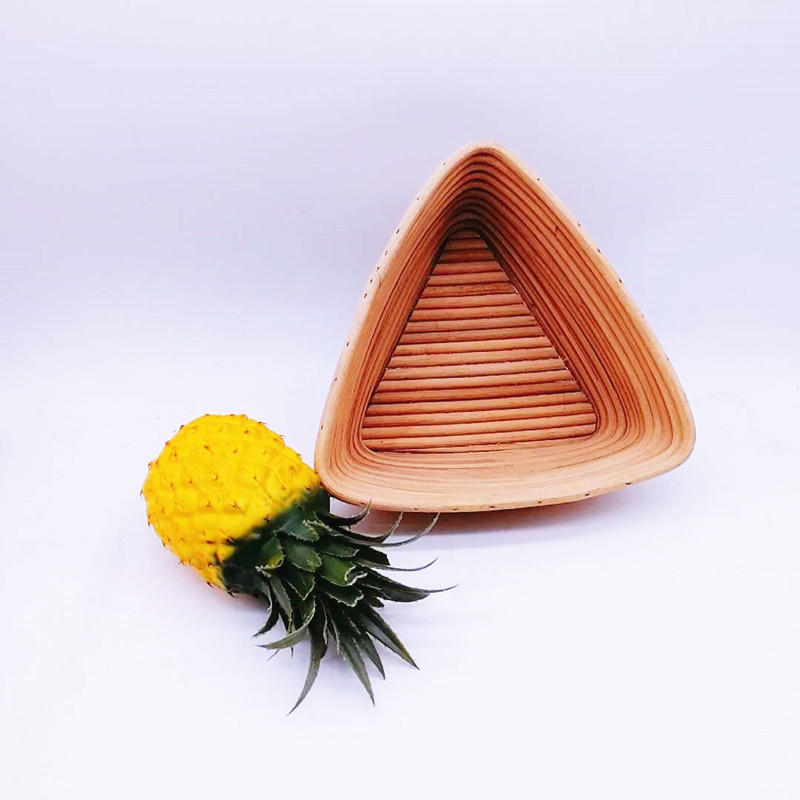 Trilateral Bread Banneton Proofing Basket Handmade rattan bowl heated bread basket