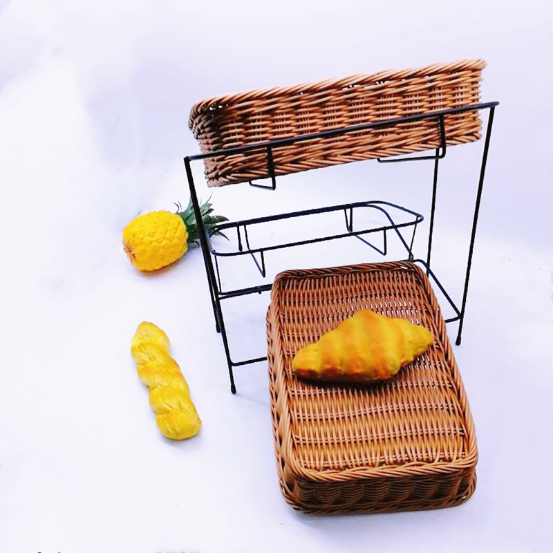 plastic bread basket woven with high quality for shop-1