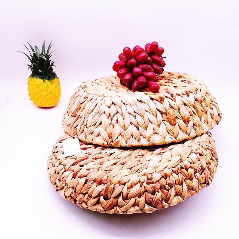Customized Storage sea grass basket seaweed craft grass woven multi-function basket