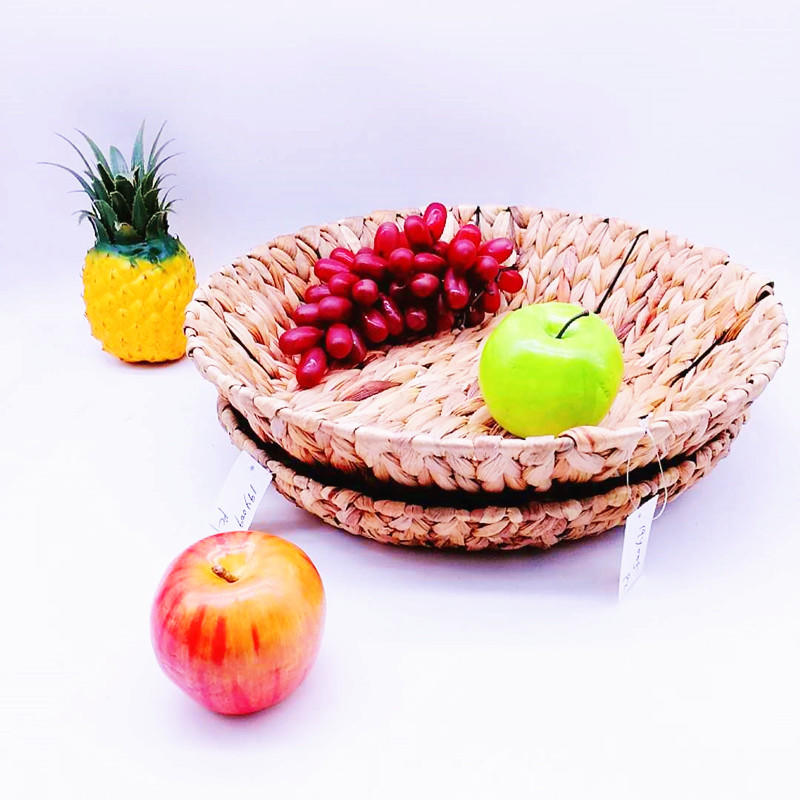 Customized Storage sea grass basket seaweed craft grass woven multi-function basket