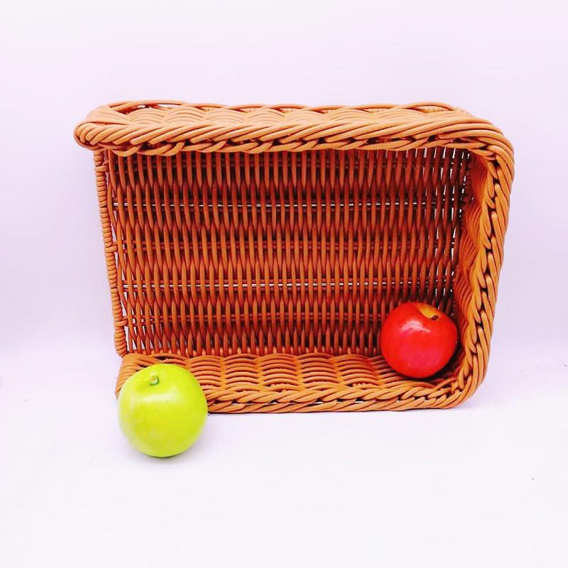 Supermarket rattan basket various kinds of storage basket customers plastic baskets for fruit