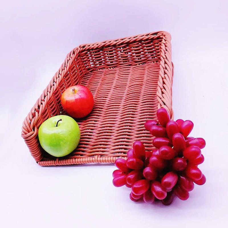 Supermarket rattan basket various kinds of storage basket customers plastic baskets for fruit