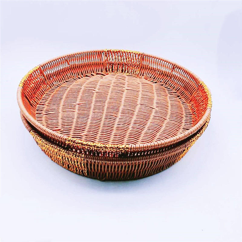 Wholesale New Designed Round Rattan Big Woven Rattan Basket