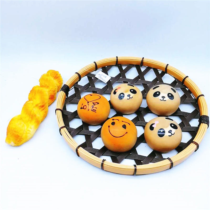 Colorful hollowed-out pp rattan bamboo tray