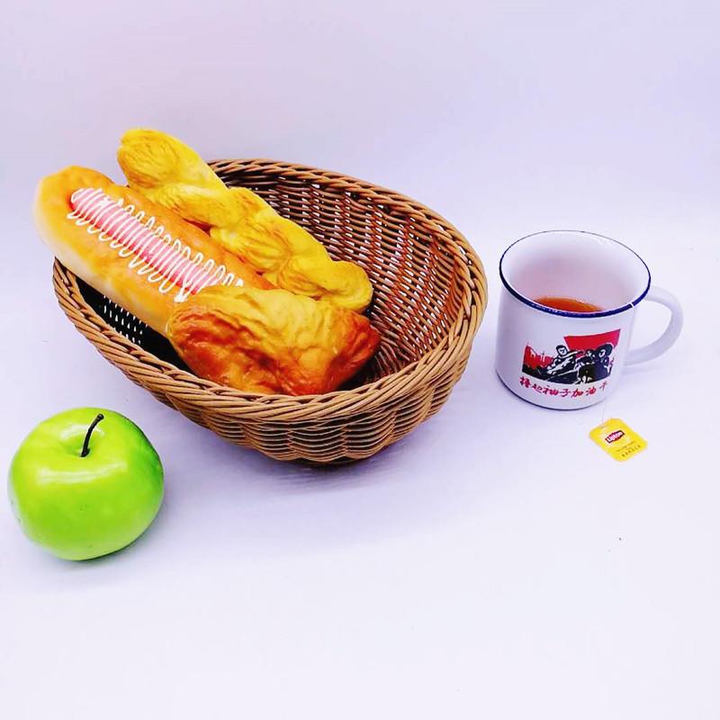 Graceful handcraft plastic wicker basket fruit tray bread basket