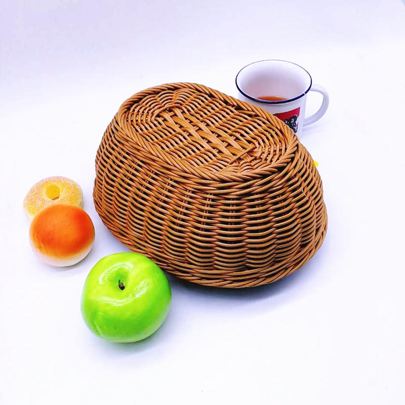 Graceful handcraft plastic wicker basket fruit tray bread basket