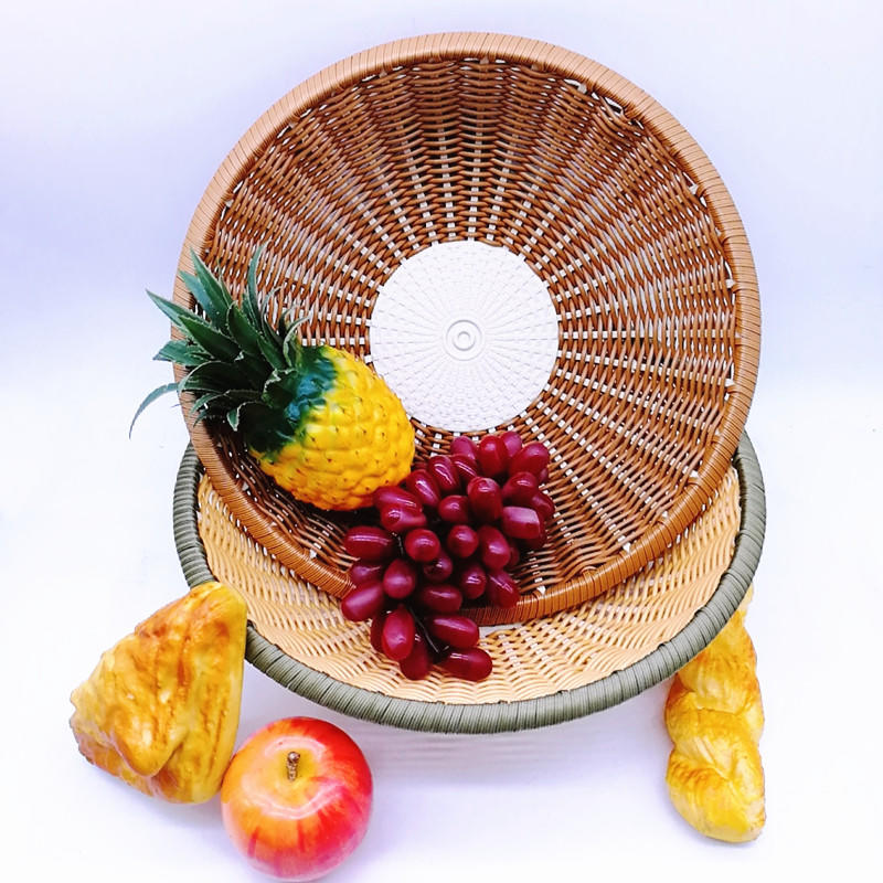 Factory bottom price handcraft poly bamboo basket for daily life