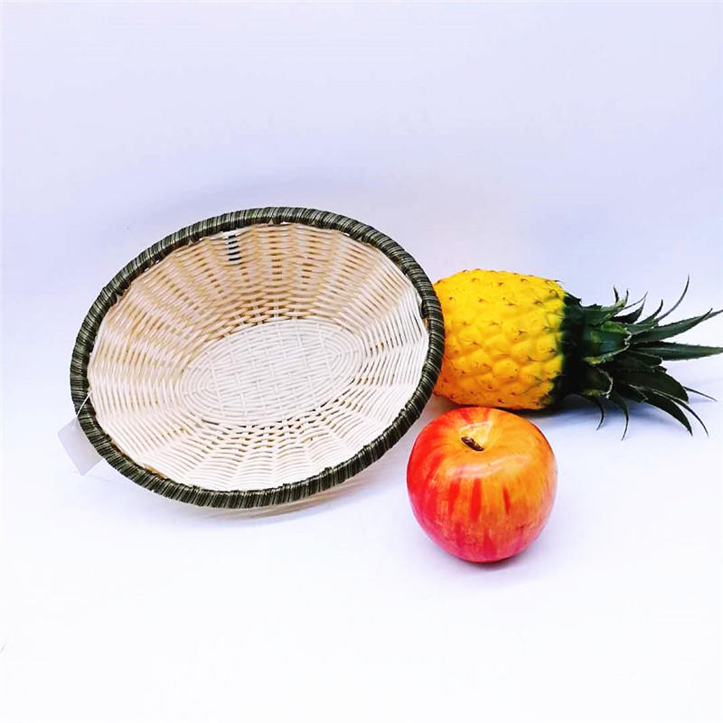Popular dessert tray colorful oval poly bamboo basket