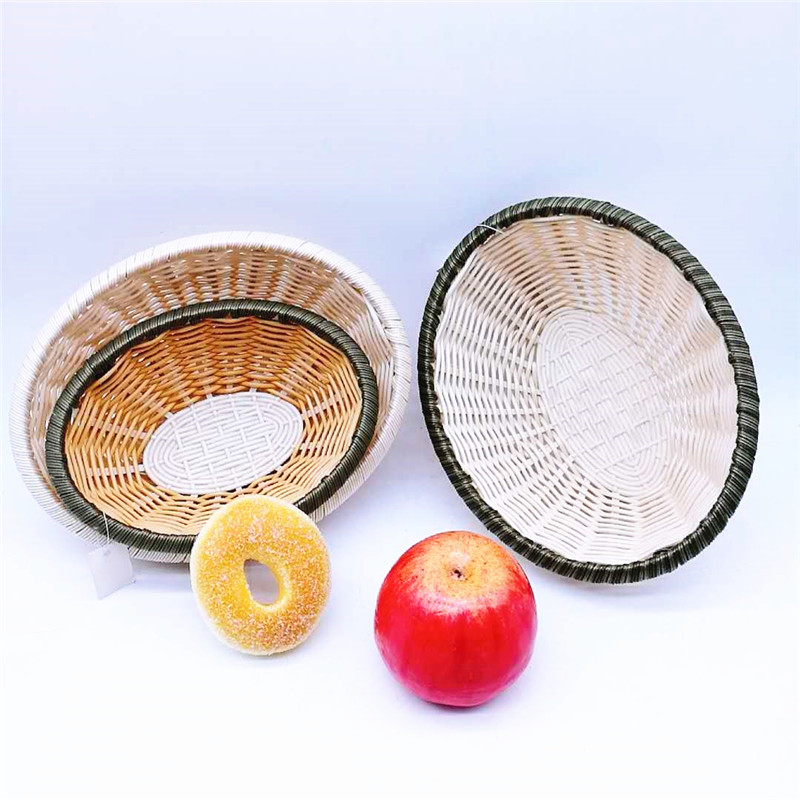 round bamboo baskets cheap handicraft easy to clean for sale-1