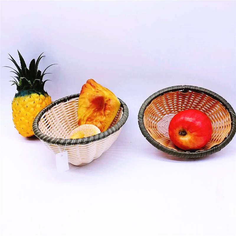 round bamboo baskets cheap handicraft easy to clean for sale-2