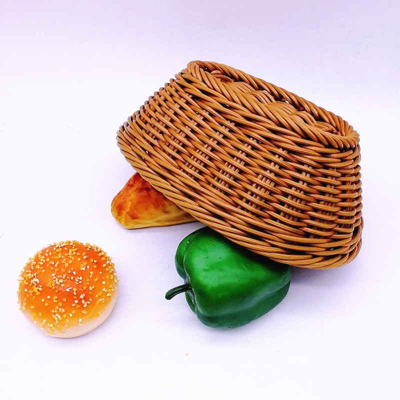 Carehome microwave safety wicker bread basket with high quality for family-2