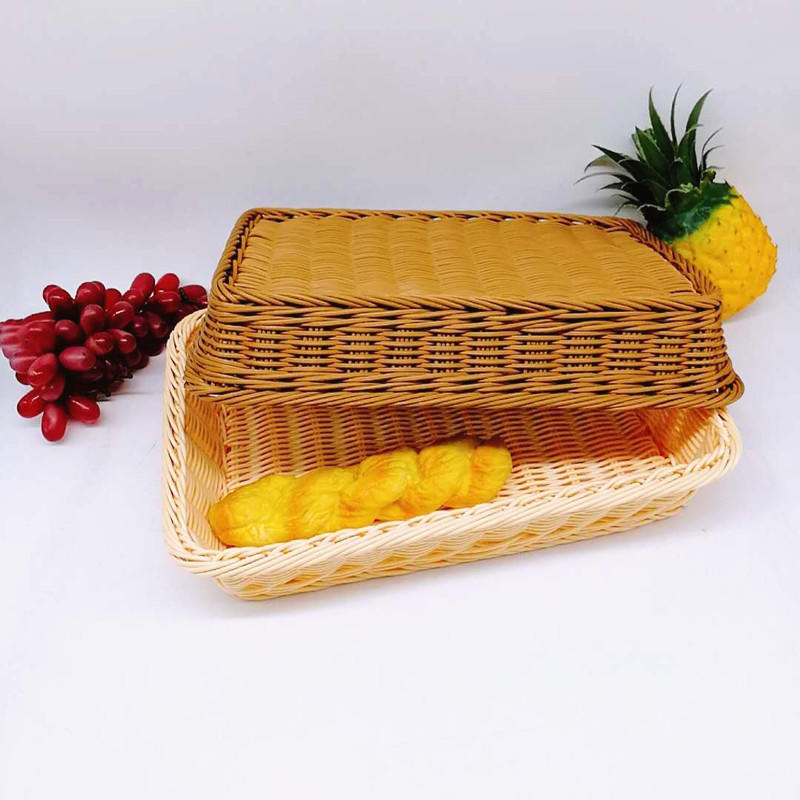 Non-toxic FDA hand weaving pp wicker basket for any food storage