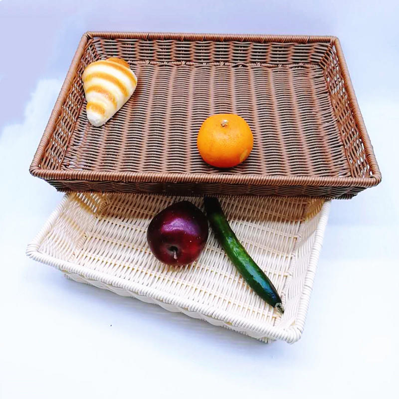 Fashion hand weaving solid pp wicker basket with flame