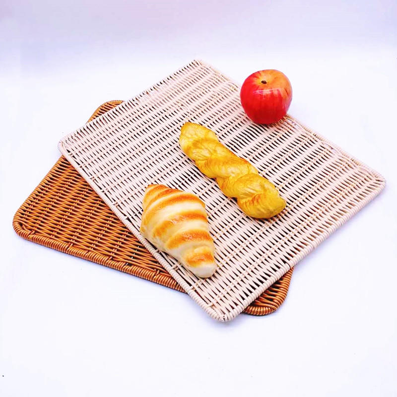 Handweaved graceful washable PP Rattan Mat for bread
