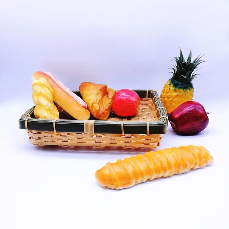 Eco-friendly square handicraft poly bamboo basket