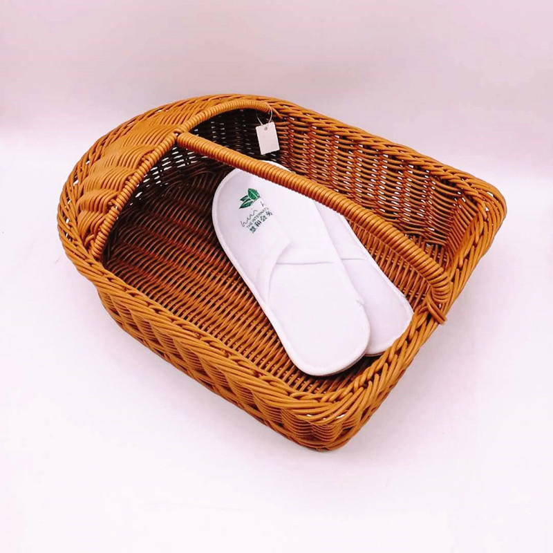 High quality graceful custom wicker shelves rattan shoes basket