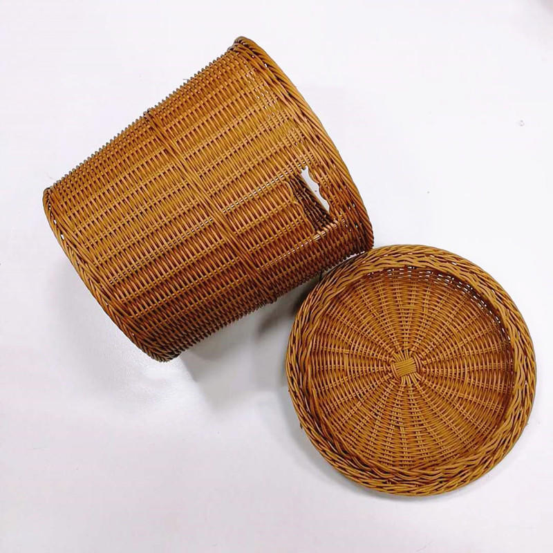 Multi-Function European Style Wicker Laundry Basket with cloth or not