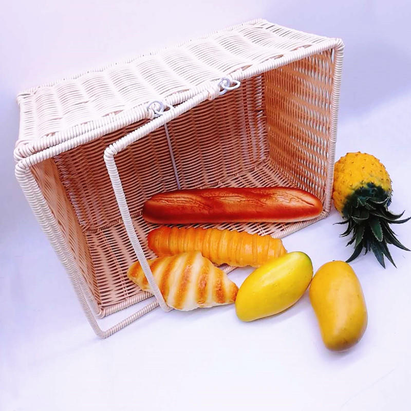 High quality outdoor food wicker picnic basket rattan bread basket