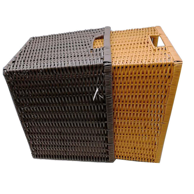 Multi-purpose and multi-sizes pp wicker laundry basket for bathroom