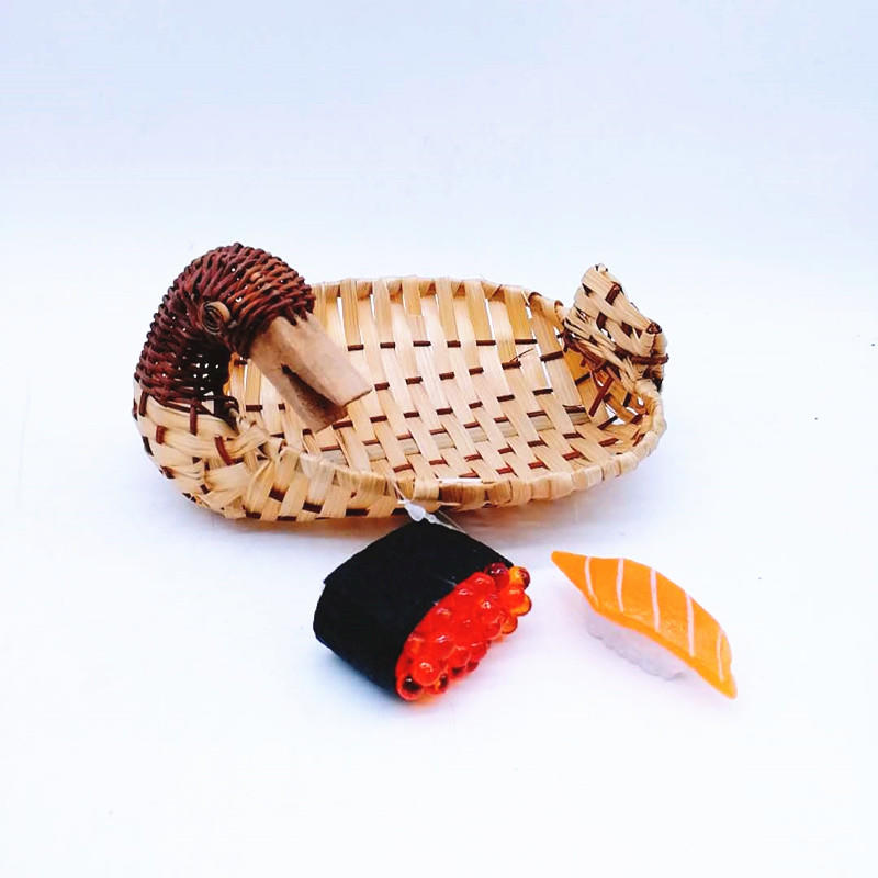 Nature bamboo fruit tray animal shape bamboo basket for sushi