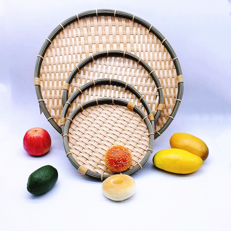 hollow white bamboo basket daily ecofriendly for market-2