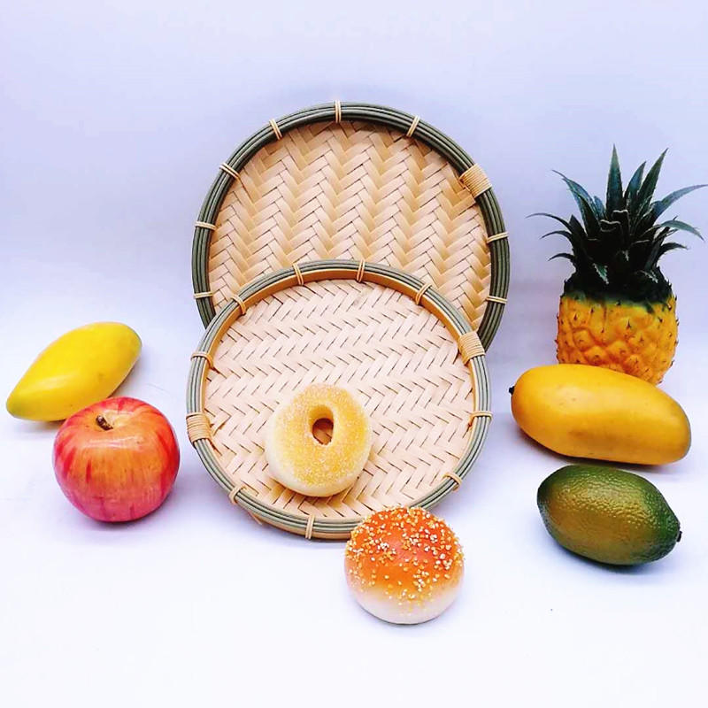 A Rounded PP Handmade Eco Friendly Wholesale Bamboo Bread Basket