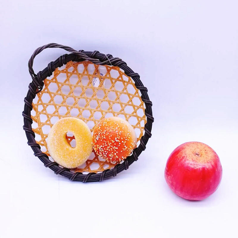 NewFida Eco-friendly Hand Woven Round Bamboo Basket
