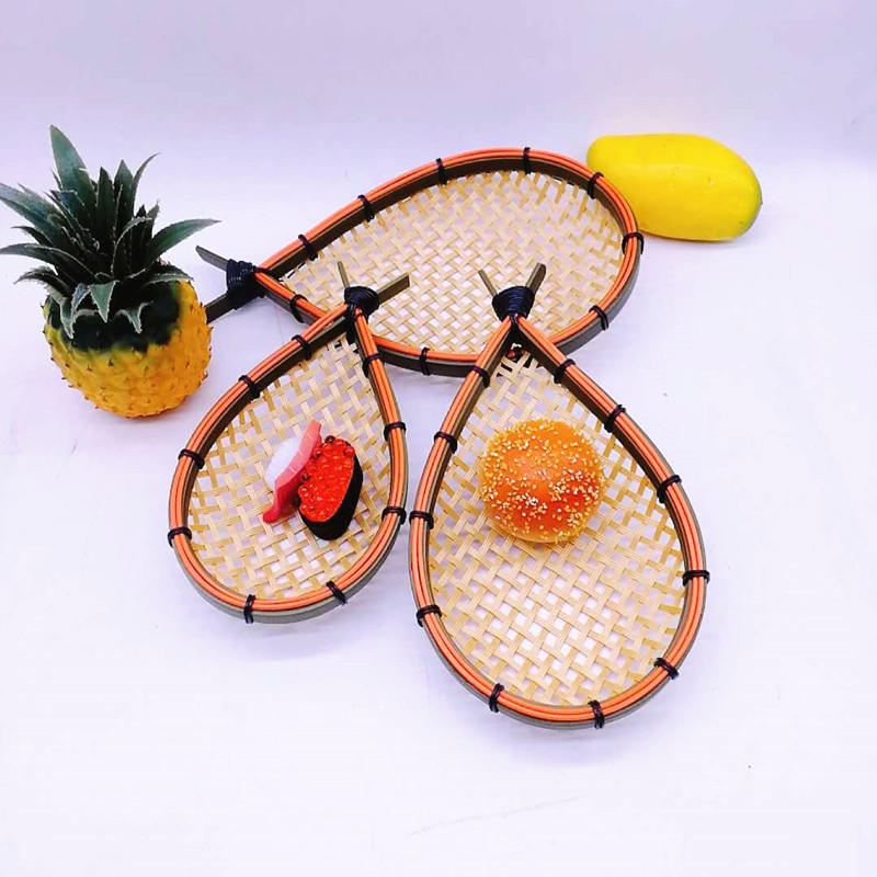 100% Handicraft Bamboo Bread Basket A Fish-Shaped Storage Display Trays