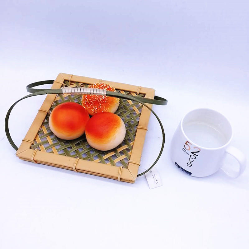 High Quality Eco-Friendly PP Bamboo Weaving Hollow Basket with handle
