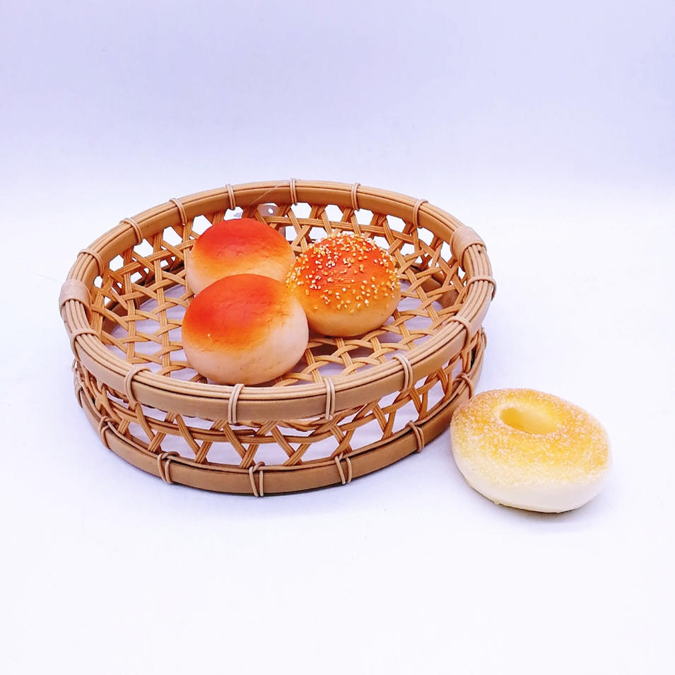 Factory direct supply pp food steamer basket hollow bamboo tray for food
