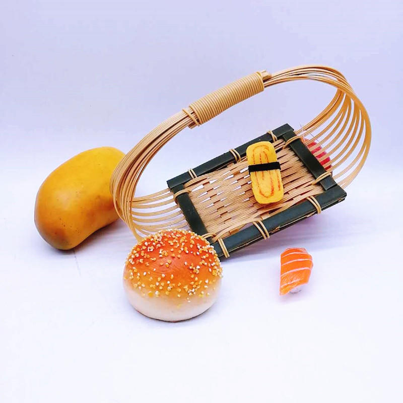 Microwave Safety PP Hollow Bamboo Food Storage Basket