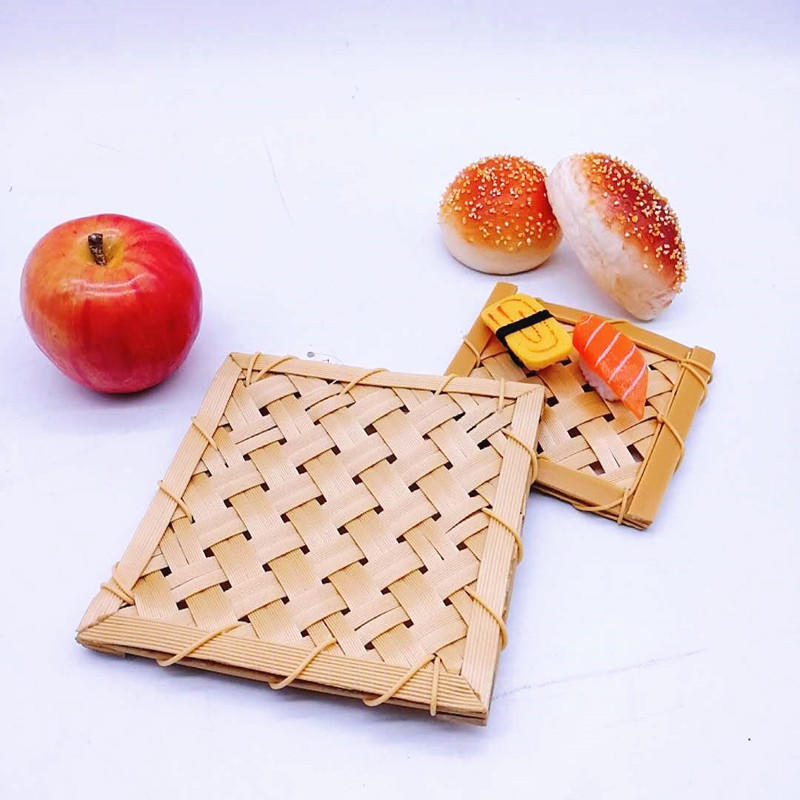 Eco-Friendly Heat Resistant Pads For Hot Dishes/Pot/Bowl PP Bamboo Mat