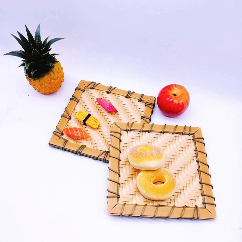Graceful washable handweaved plastic rattan Japan Sushi mat