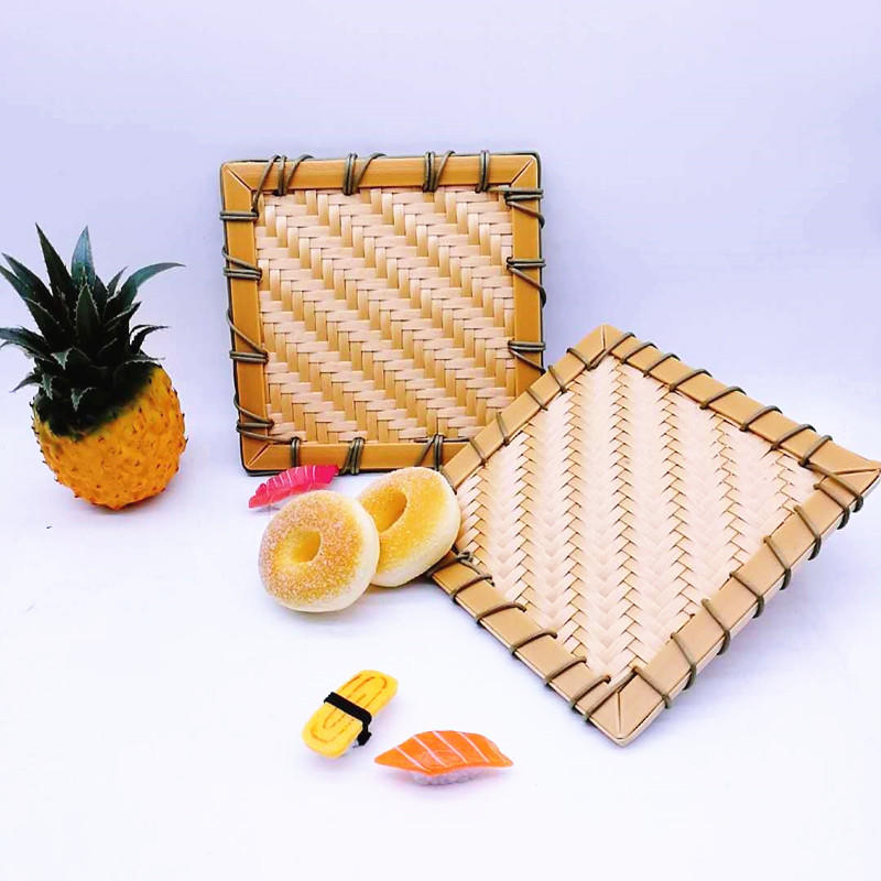 Graceful washable handweaved plastic rattan Japan Sushi mat