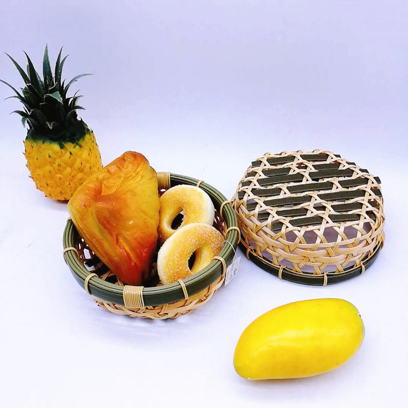 Custom Food Grade Eco-friendly Plastic Hollow Bamboo Fruit Bowl