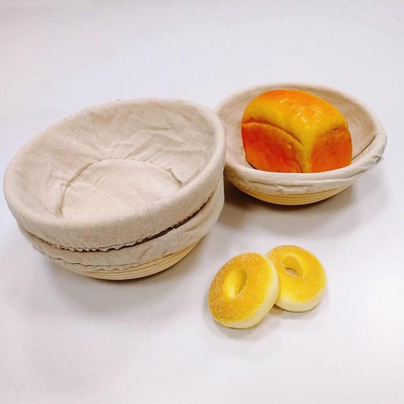 Round Bread Liner Brotform Dough Rising Rattan Handmade Rattan Bowl