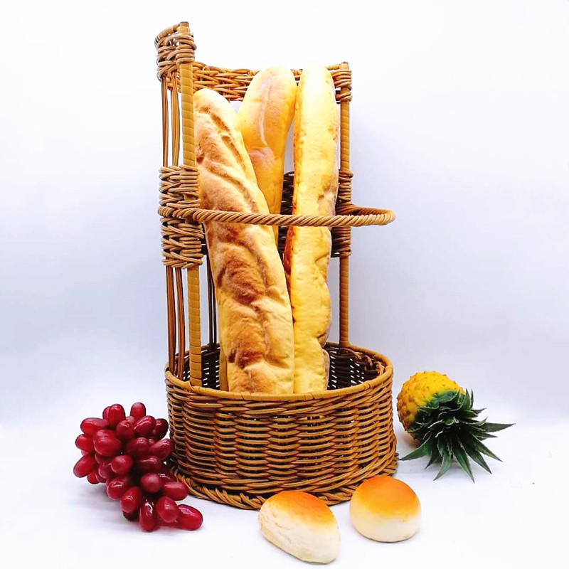 Large Open-Sided French Baguette Basket French bread basket