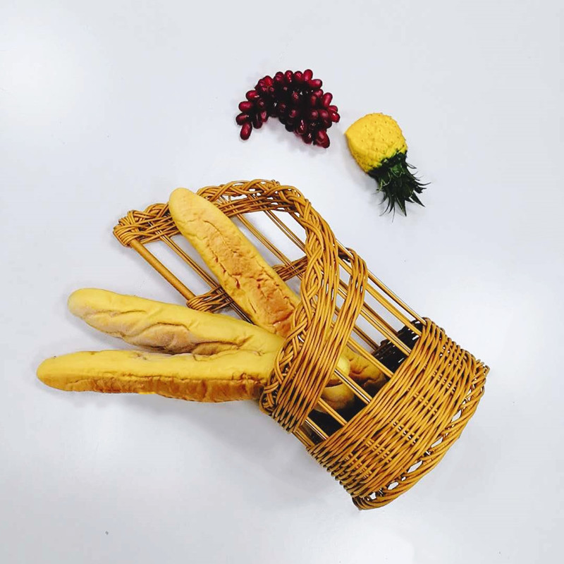 plastic wooden bread basket metal wholesale for market-1