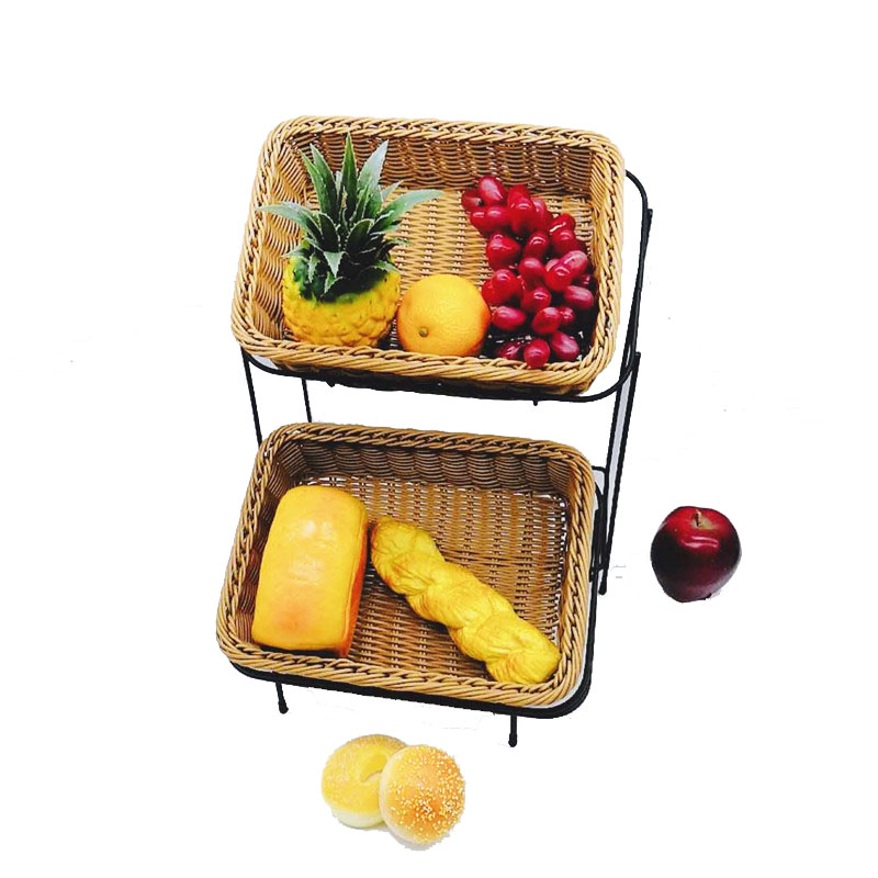 foldable bakery basket metal with high quality for market-2