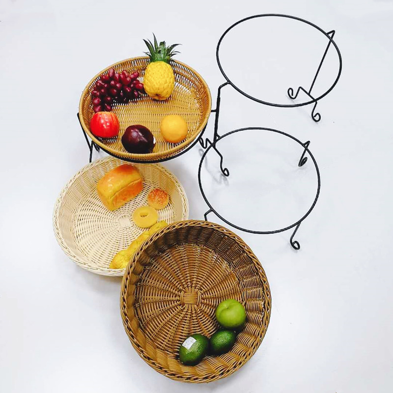 Carehome bm0111 bakers basket wholesale for family-Wicker Basket, Rattan Basket, Poly Rattan Basket,