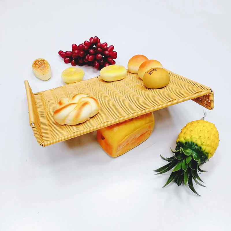Handweaved Graceful Washable PP Rattan Mat For Bread Or Wicker Fruit tray