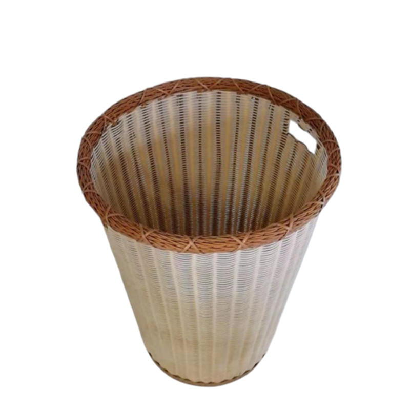 Wholesale storage rattan wicker willow laundry basket with holder