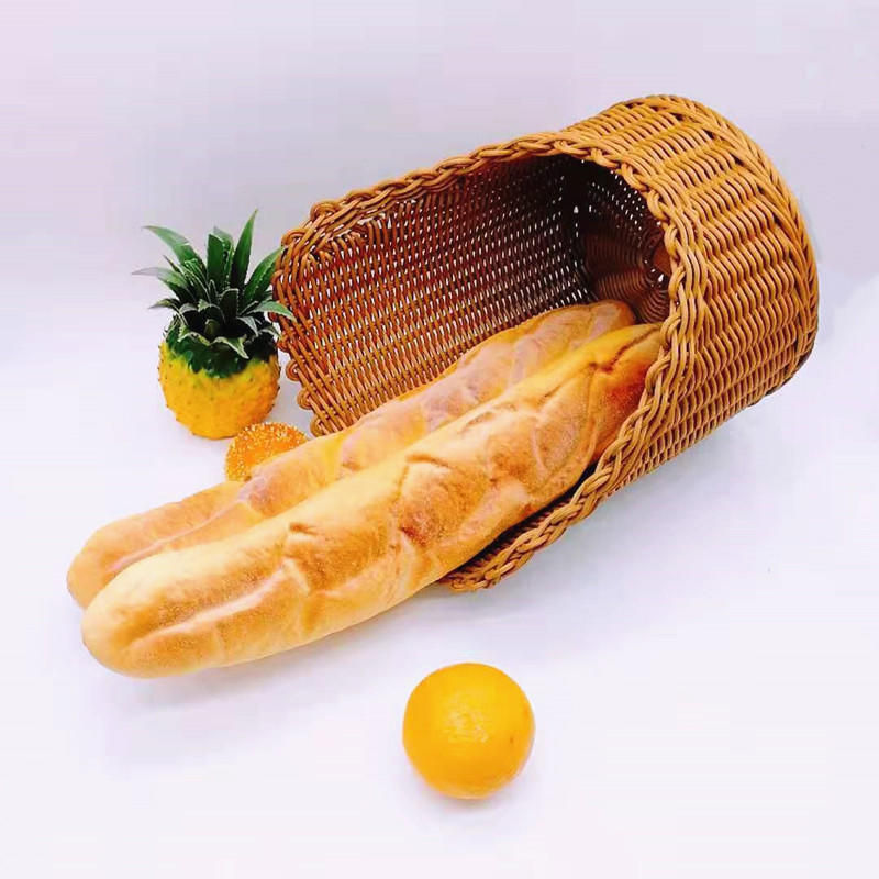 Supermarket bread store using nontoxic decorating french bread baking poly wicker basket