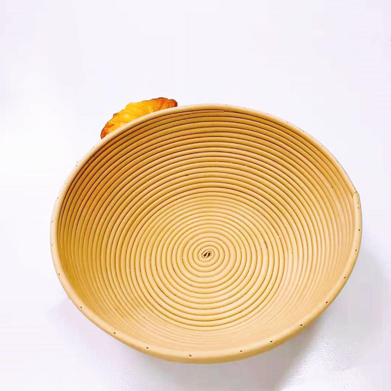 Hand weaving pp wicker proofing basket pp Indonesia rattan tray
