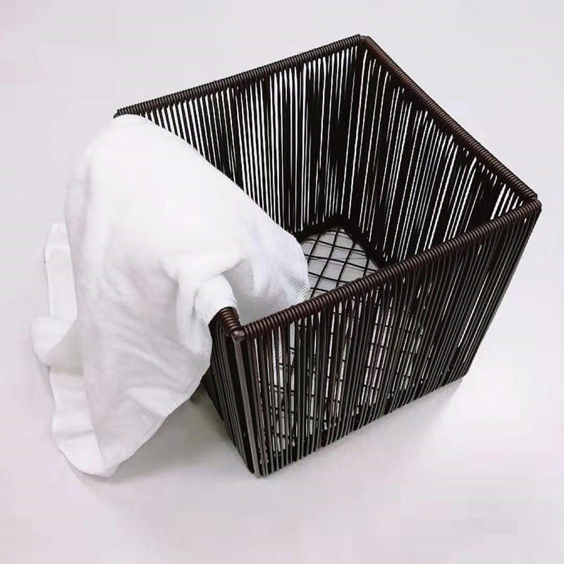 Factory wholesales washable pp wire laundry basket with metal frame