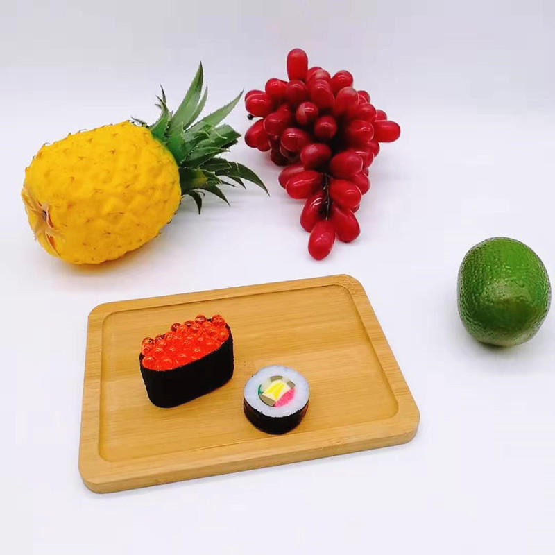 Multi-function mini nature bamboo cutting board sushi bamboo tray