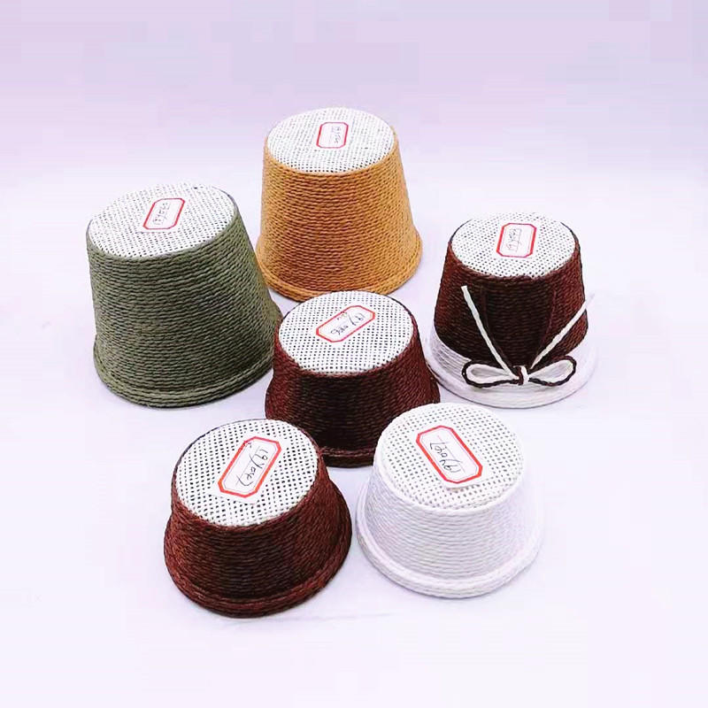 Wholesale multi-function colorful small woven cotton rope baskets