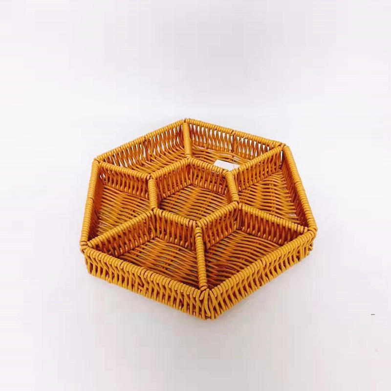 Newer listing star shape pp rattan storage basket for home life